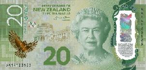 """20, 50 y 100 dólares neozelandeses, el """"dinero más brillante"""""""