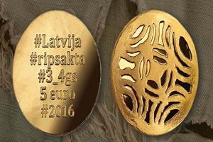 Broches de Letonia en 5 euros en oro