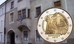 La Universidad Istropolitana en 2 euros de Eslovaquia