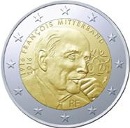 Françoise Mitterrand en 2 euros de Francia