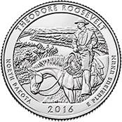 Quarter dollar 2016: Parque Nacional Theodore Roosevelt
