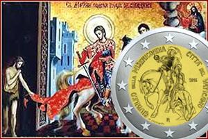 """""""Jubileo de la Misericordia"""": San Martín de Tours en 2 euros Vaticano"""