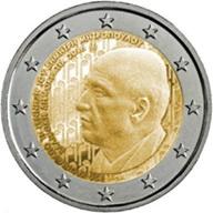 Dimitri Mitropoulos y el Monasterio de Arkadi en 2 euros Grecia