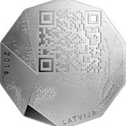 Código QR con mensaje para empresarios letones