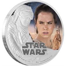 """La 7ª película de """"Star Wars"""" en plata y color de Niue"""