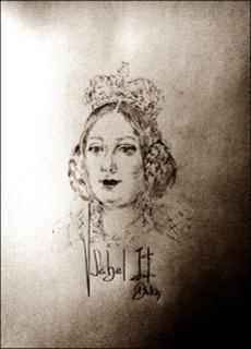 Isabel II representada en el Botón.