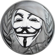 Guy Fawkes y su máscara en Islas Cook