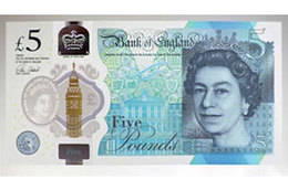 El Banco de Inglaterra apuesta por su billete de 5 libras hecho con sebo