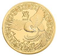 Año del Gallo en monedas francesas de oro y plata