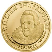 Islas Cook dedica oro a William Shakespeare
