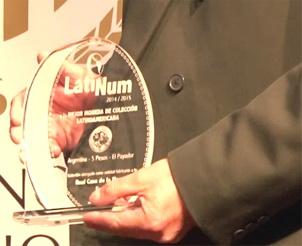 Premios LatiNum 2014-2015: La FNMT-Real Casa de la Moneda galardonada