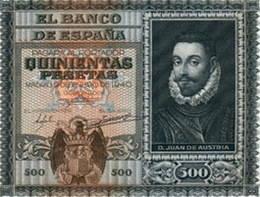Don Juan de Austria en el billete de 500 pesetas de 1940