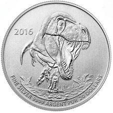 Canadá y el Tyrannosaurus Rex en plata