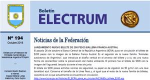 "Boletín ""Electrum"" número 194, octubre 2016"