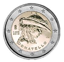 "2 Euros de Italia para el ""David"" de Donatello"