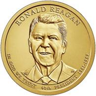 Ronald Reagan en los dólares presidenciales 2016