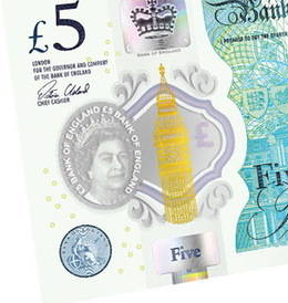 """El """"New Fiver"""" ya está en circulación en Reino Unido"""
