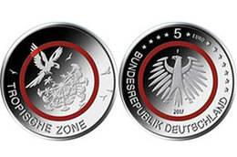 """Alemania prepara la emisión la moneda de 5€ """"Zona Tropical"""""""