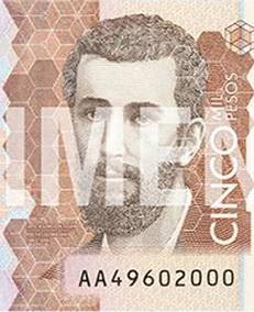 Los nuevos billetes de 5.000 pesos colombianos ya están en la calle