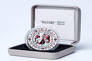 "Letonia el ""Arte de la Porcelana de Baltars"" en 5 euros plata"
