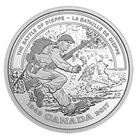 75 aniversario de la Batalla de Dieppe en la moneda de 20$ canadiense