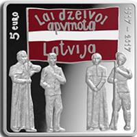 Moneda de 5€ que conmemora el centenario del Congreso de Latgale
