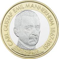 "Sexta moneda de la serie ""Presidentes de Finlandia"""