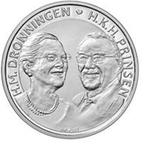 Moneda que conmemora las bodas de oro de los reyes de Dinamarca