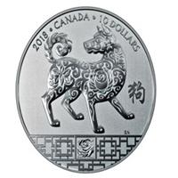 El zodiaco chino en las monedas canadienses en 2018