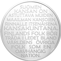 Moneda conmemorativa de la Independencia de Finlandia