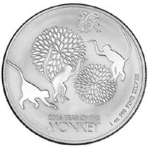 """Niue y el """"Año del Mono"""" en 1 onza de plata"""