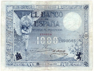 Subasta XXVI online de Numismática Pliego, sólo billetes