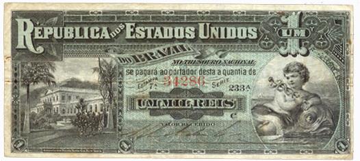 Brasil Um Mil Reis de 1891 vs. Um Mil Reis de 1917