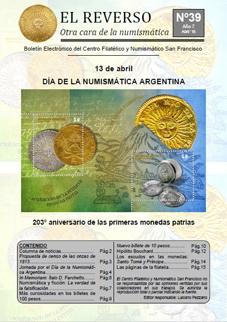 Bolet�n �El reverso� n�mero 39, abril 2016