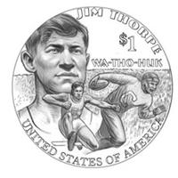 Nueva moneda de 1$ de Estados Unidos.
