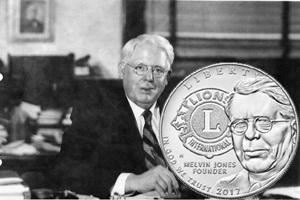 Dólar de plata para el Club Internacional de Leones