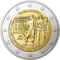 2 Euros para el bicentenario del Banco Nacional de Austria