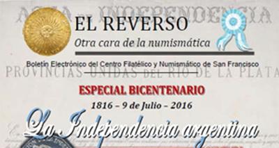 """Boletín Electrónico """"El Reverso"""" número 41, julio 2016. Especial Bicentenario 1816-2016"""
