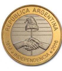 2 Pesos Bicentenario de la Independencia de Argentina