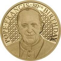El Papa Francisco cumple 80 años en oro