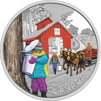 Canadá homenajea al jarabe de arce en una moneda de 10$.