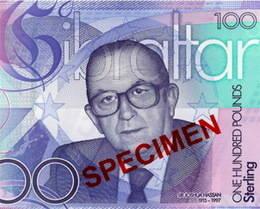 El mayor 'enemigo' gibraltareño de España aparece en un billete de 100 libras