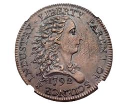 Centavo subastado por Heritage Auctions en 517.000$