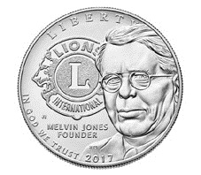 Centenario del Lions International en dólar plata