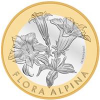 Genciana, la flor protagonista de la Ceca Suiza