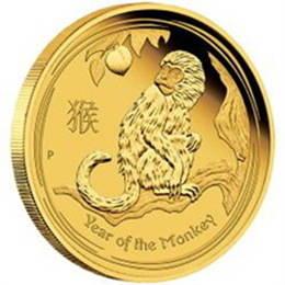 Moneda Año Lunar del mono 2016 oro 1 oz