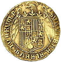 La primera moneda acuñada para el Nuevo Mundo