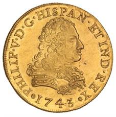 La estrella de la subasta de Hervera, Soler&Llach: onza mexicana de Felipe V 1743