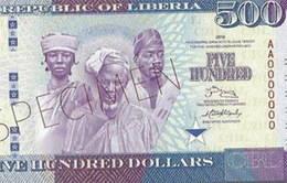 Nuevo billete de 500 dólares en Liberia