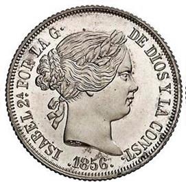 Nuevo busto de Luis Marchionni: Monedas labradas en plata, 1857-1864